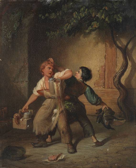 "Painting ""Die Rache"" (The Revenge) by Jakob Emanuel Gaisser"