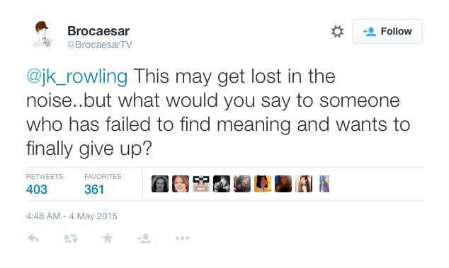 JK Rowling Question Depression